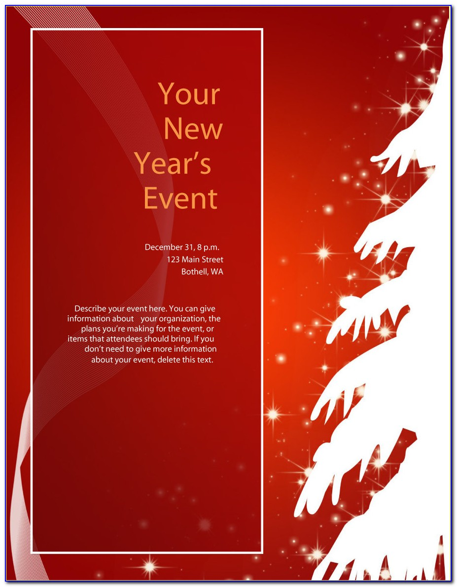 Free Templates For Christmas Flyers