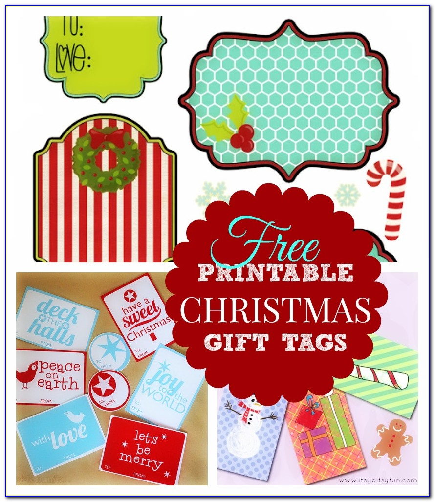 Free Templates For Christmas Gift Tags