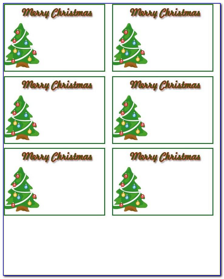 Free Templates For Christmas Name Tags