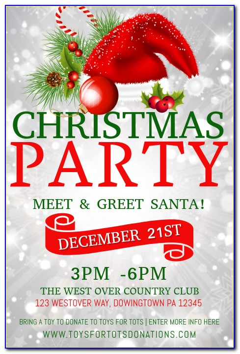 Free Templates For Flyers Christmas