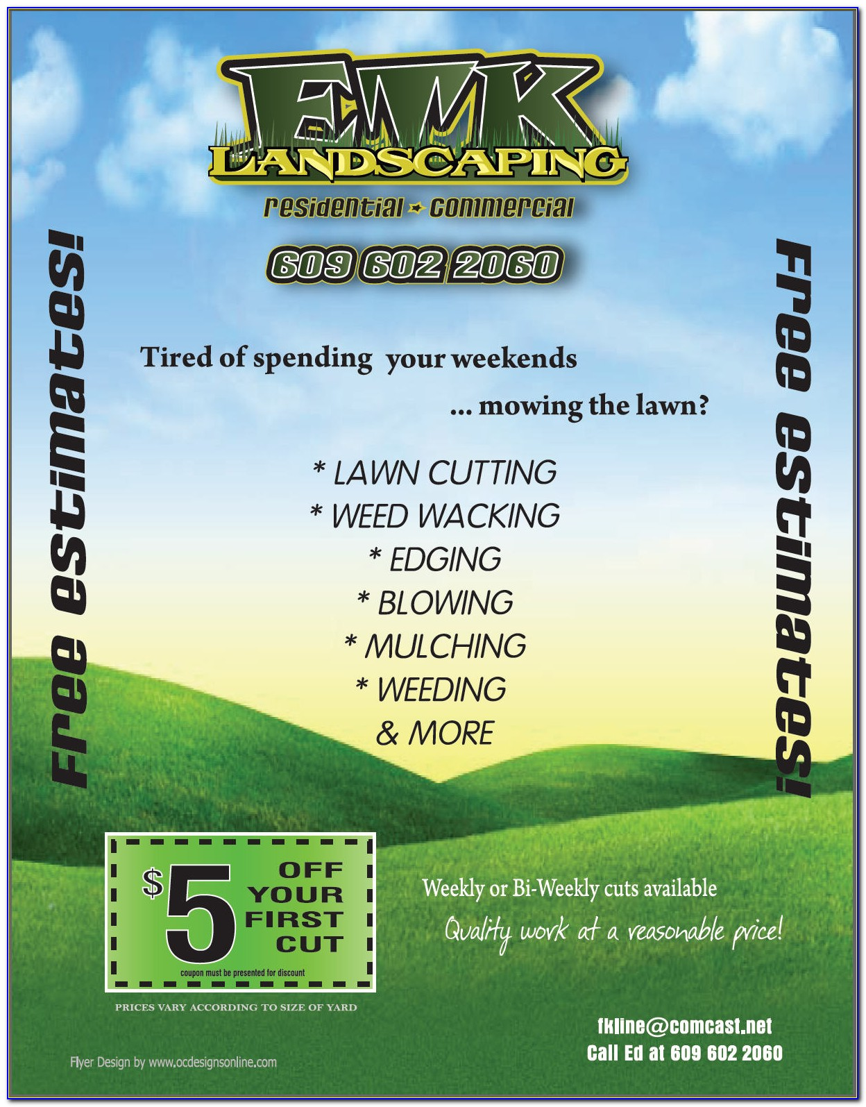 Free Templates For Flyers Landscaping