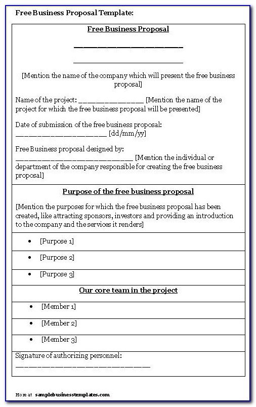 Free Templates For Proposals Jobs