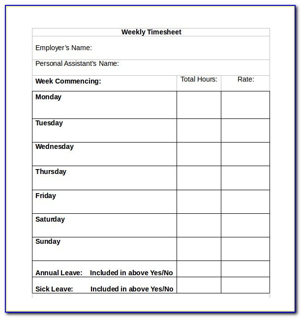 Free Timesheet Templates Excel