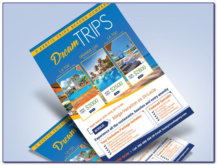 Free Travel Brochure Templates For Word