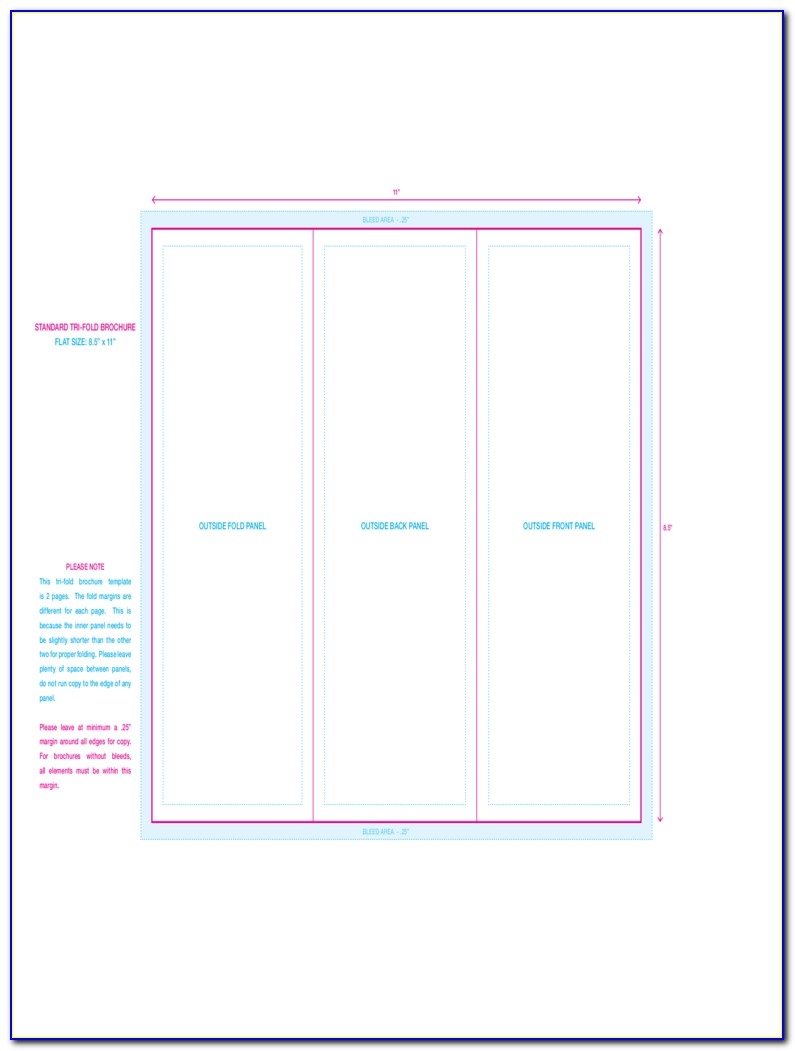 Free Tri Fold Brochure Template Downloads