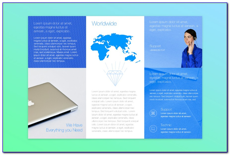 Free Tri Fold Brochure Template For Mac