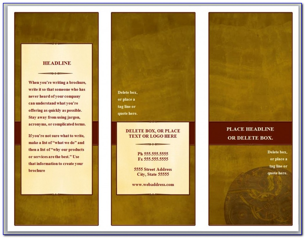 Free Tri Fold Brochure Template Powerpoint