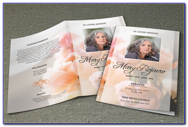Free Tri Fold Funeral Program Template Word