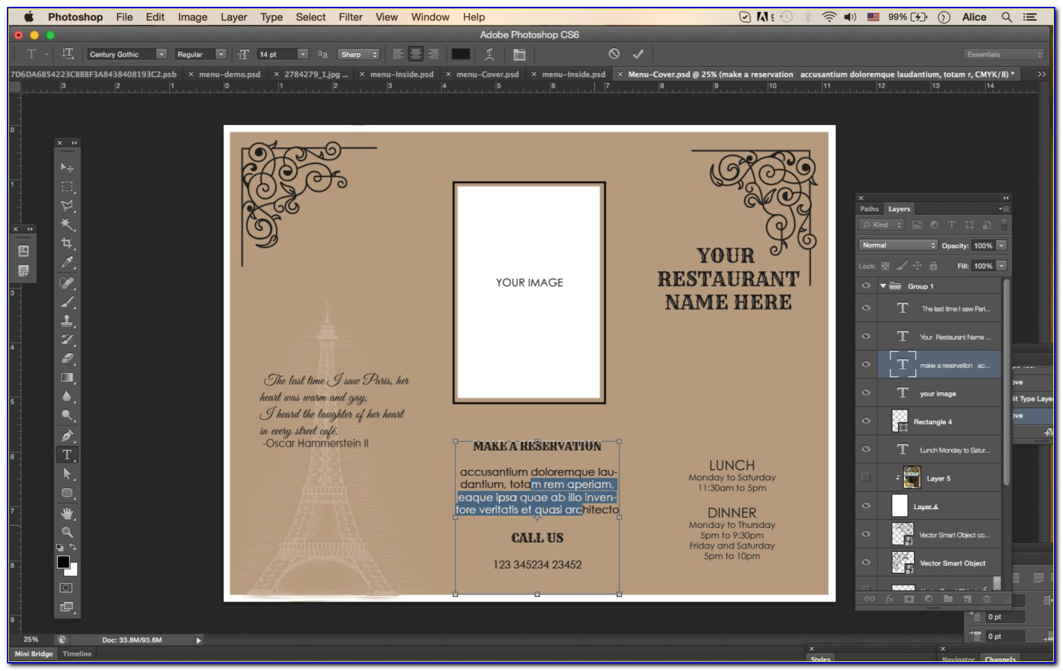 Free Tri Fold Menu Templates For Microsoft Word