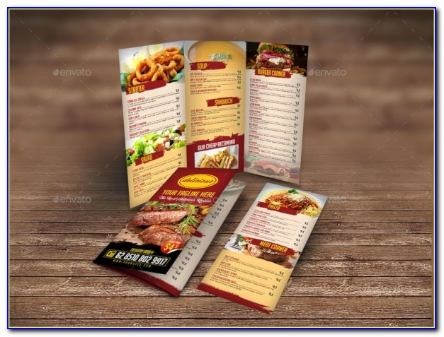 Free Tri Fold Restaurant Menu Templates