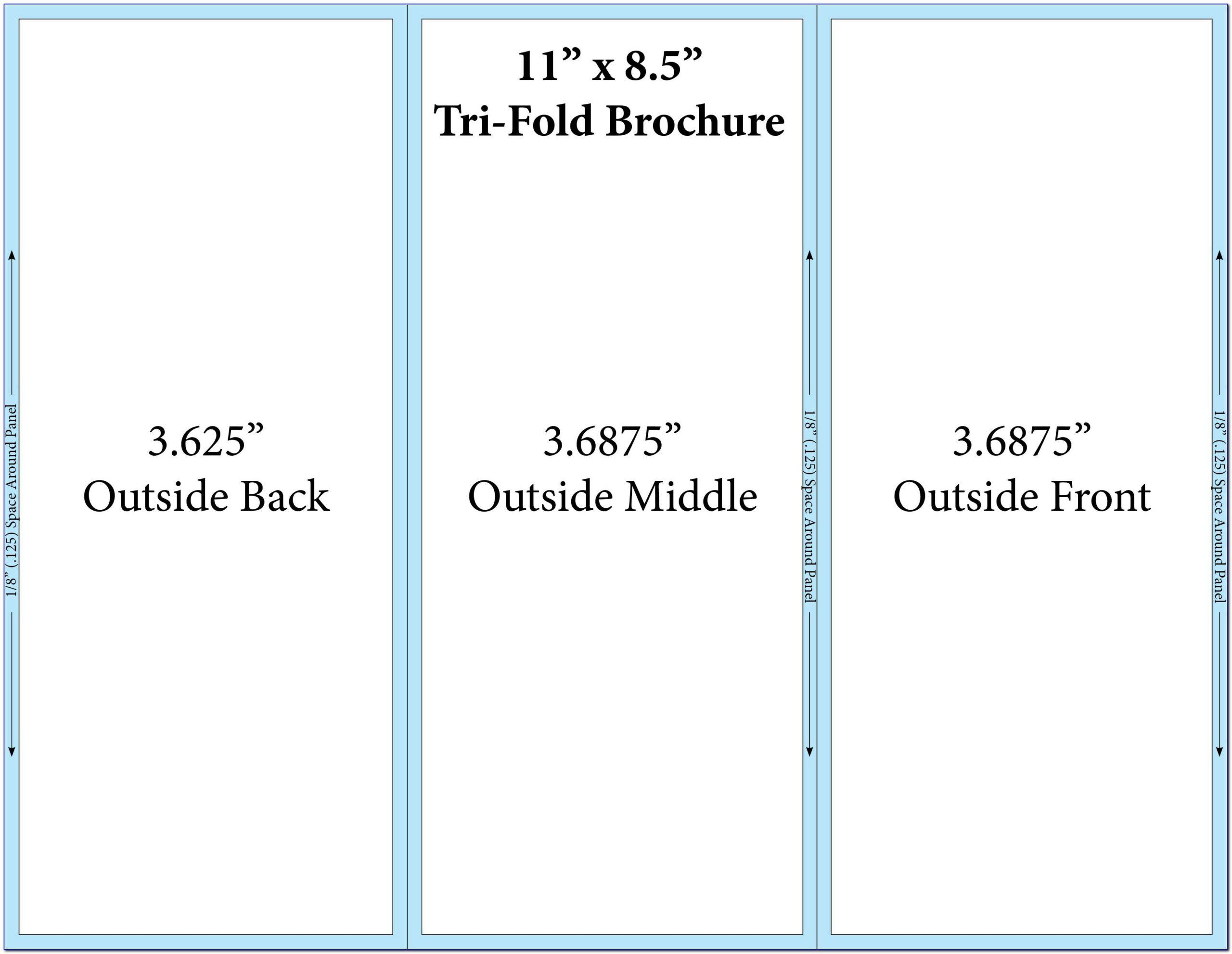 Free Tri Fold Template Word