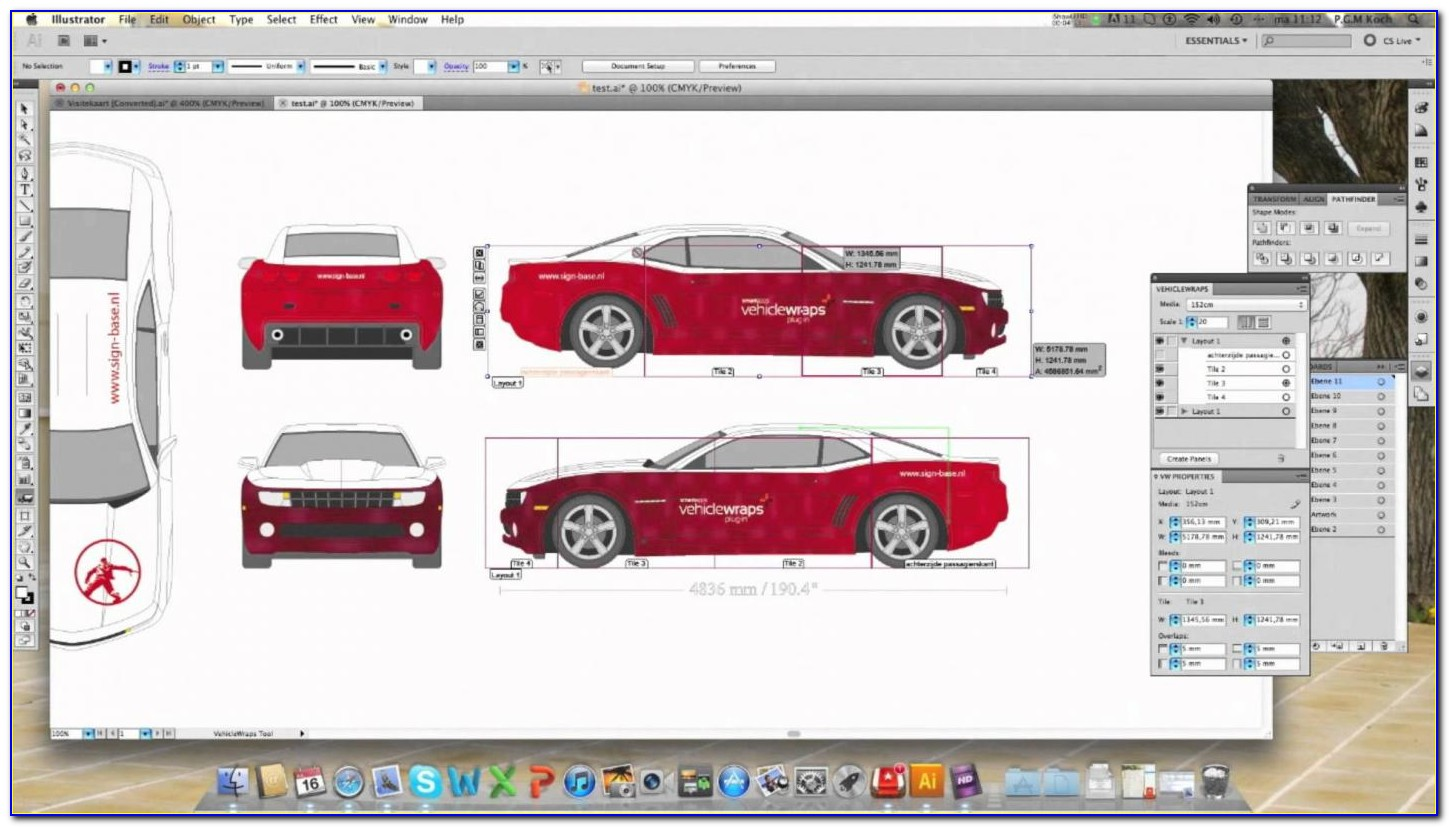 Free Vehicle Wrap Templates Illustrator