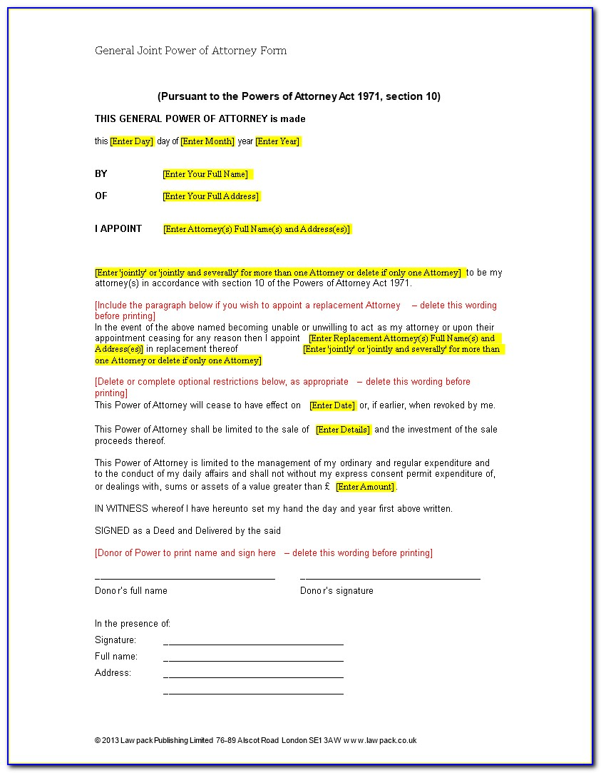 Free Virginia General Power Of Attorney Form Pdf