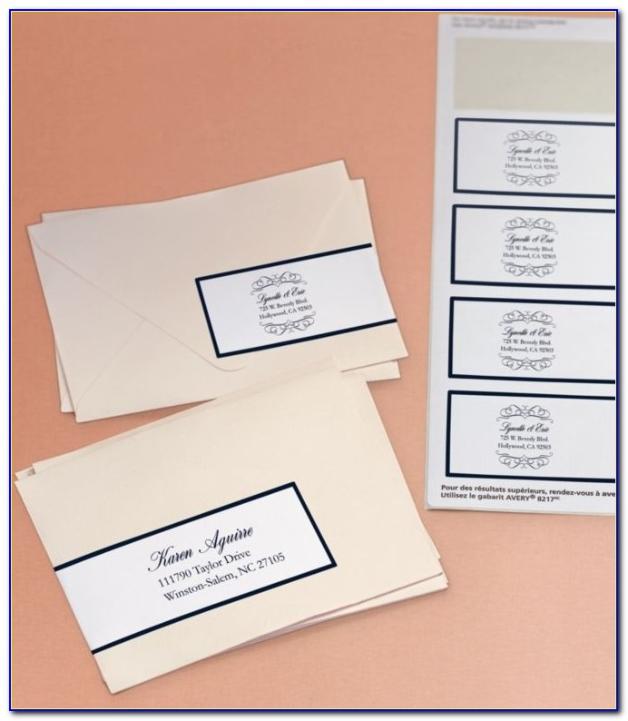 Free Wedding Invitation Address Label Template