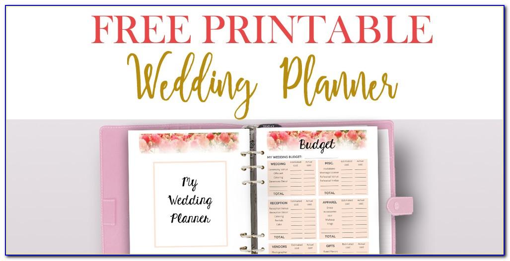 Free Wedding Planner Binder Printables