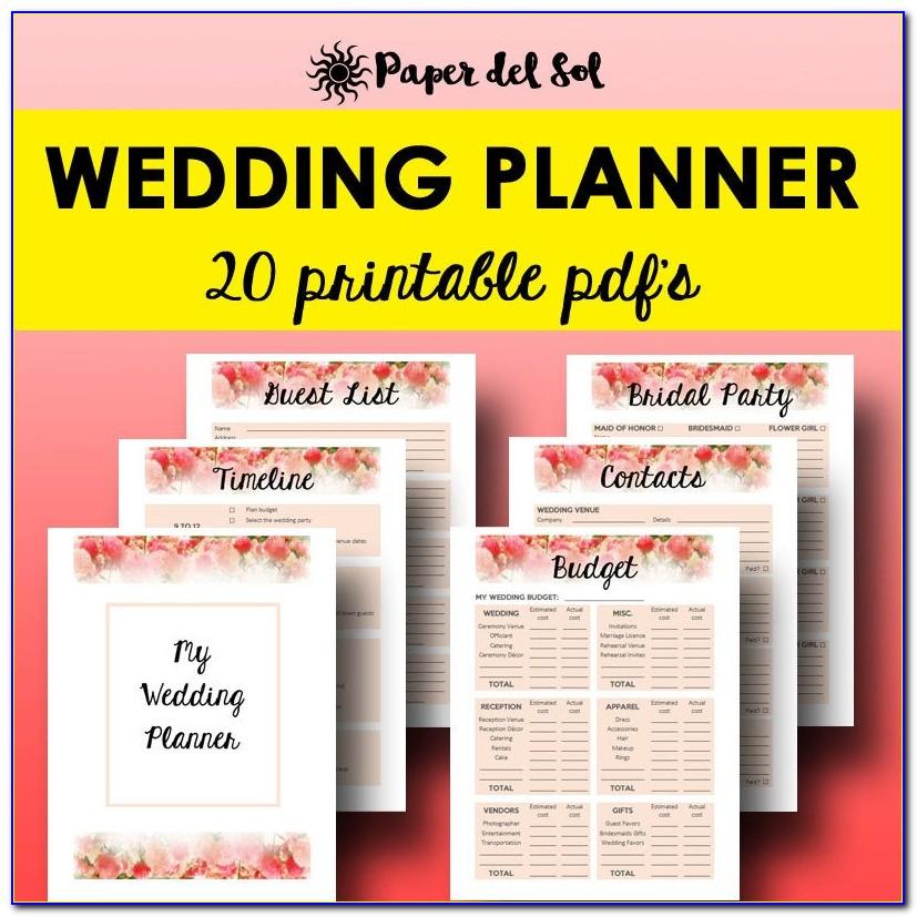 Free Wedding Planner Binder Template