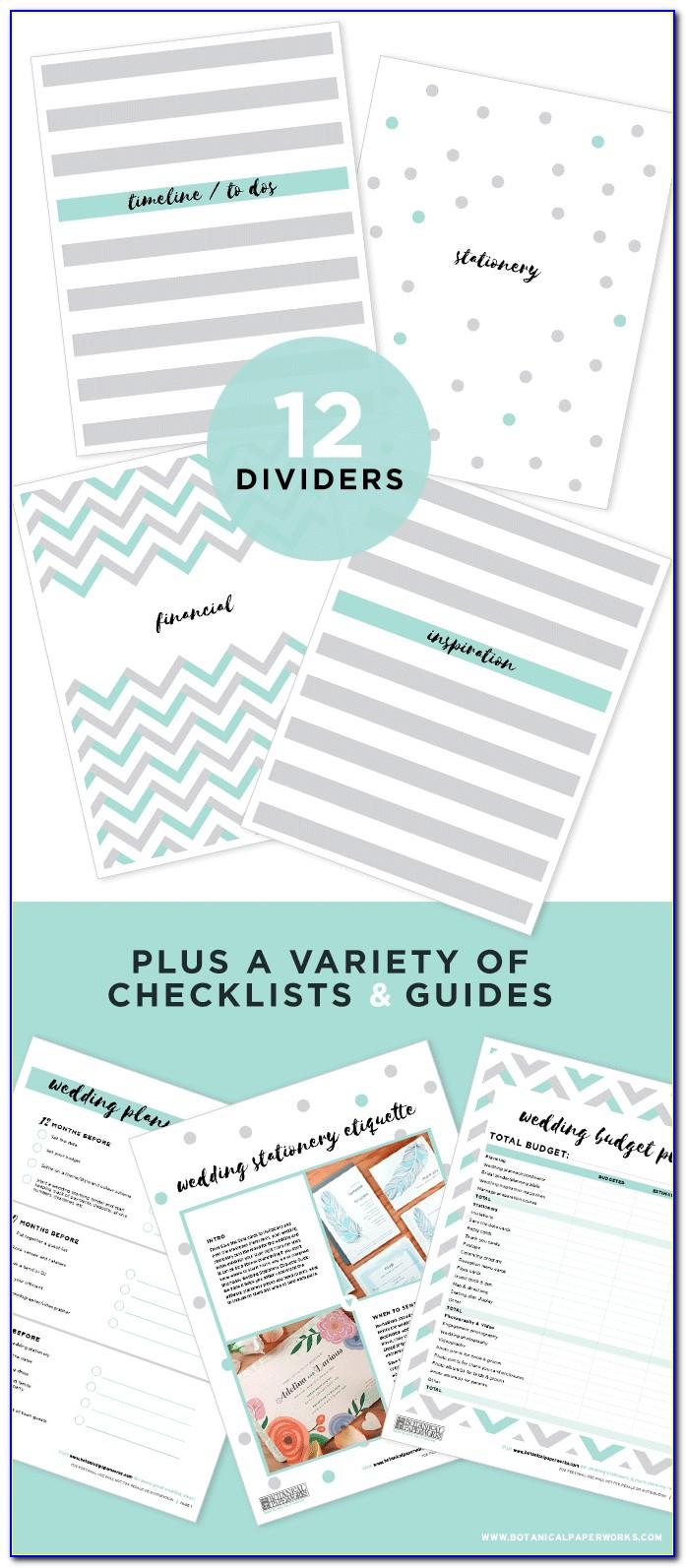 Free Wedding Planner Checklist Printable