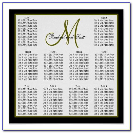 Free Wedding Seating Chart Poster Templates