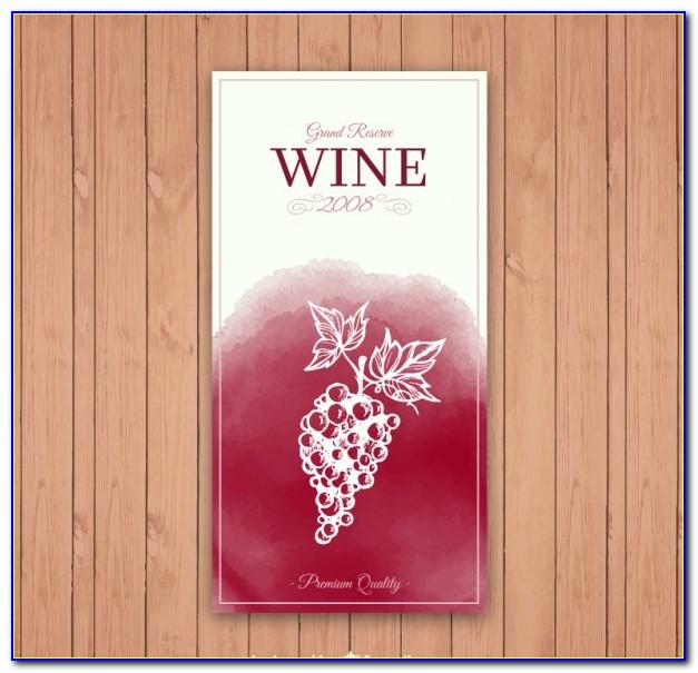 Free Wedding Wine Bottle Label Templates