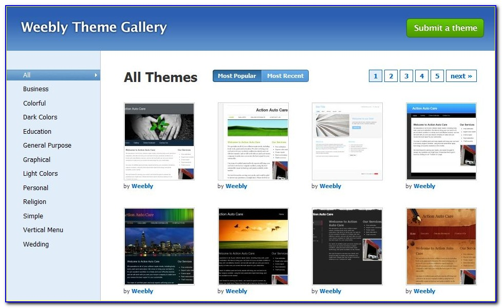 Free Weebly Web Templates