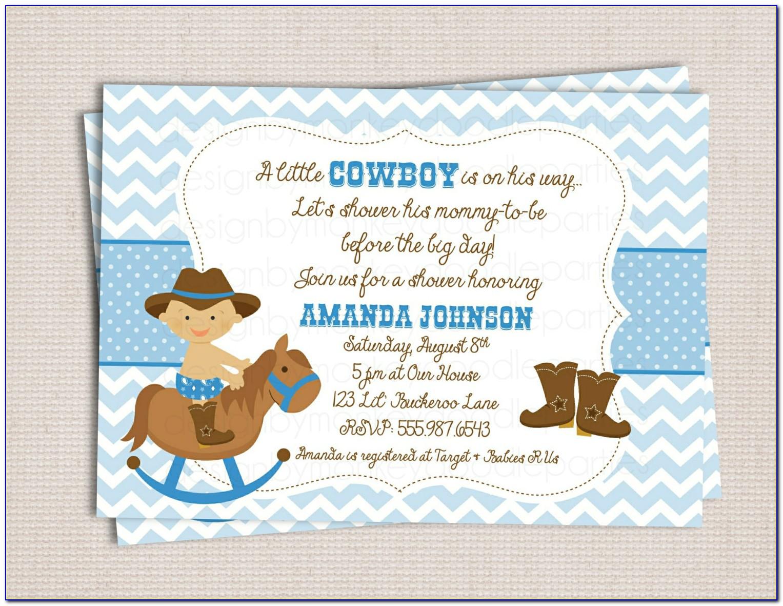 Free Western Baby Shower Invitation Templates