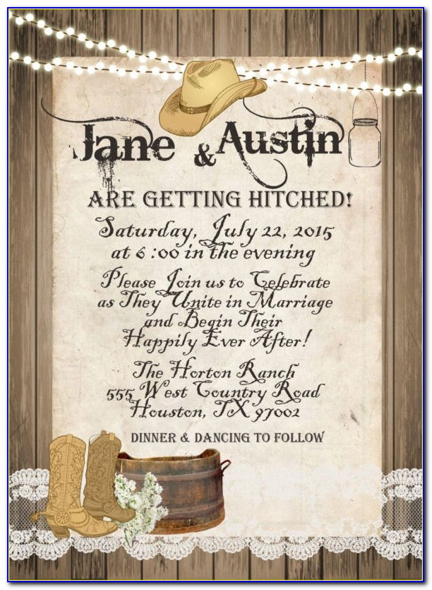 Free Western Party Invitation Templates