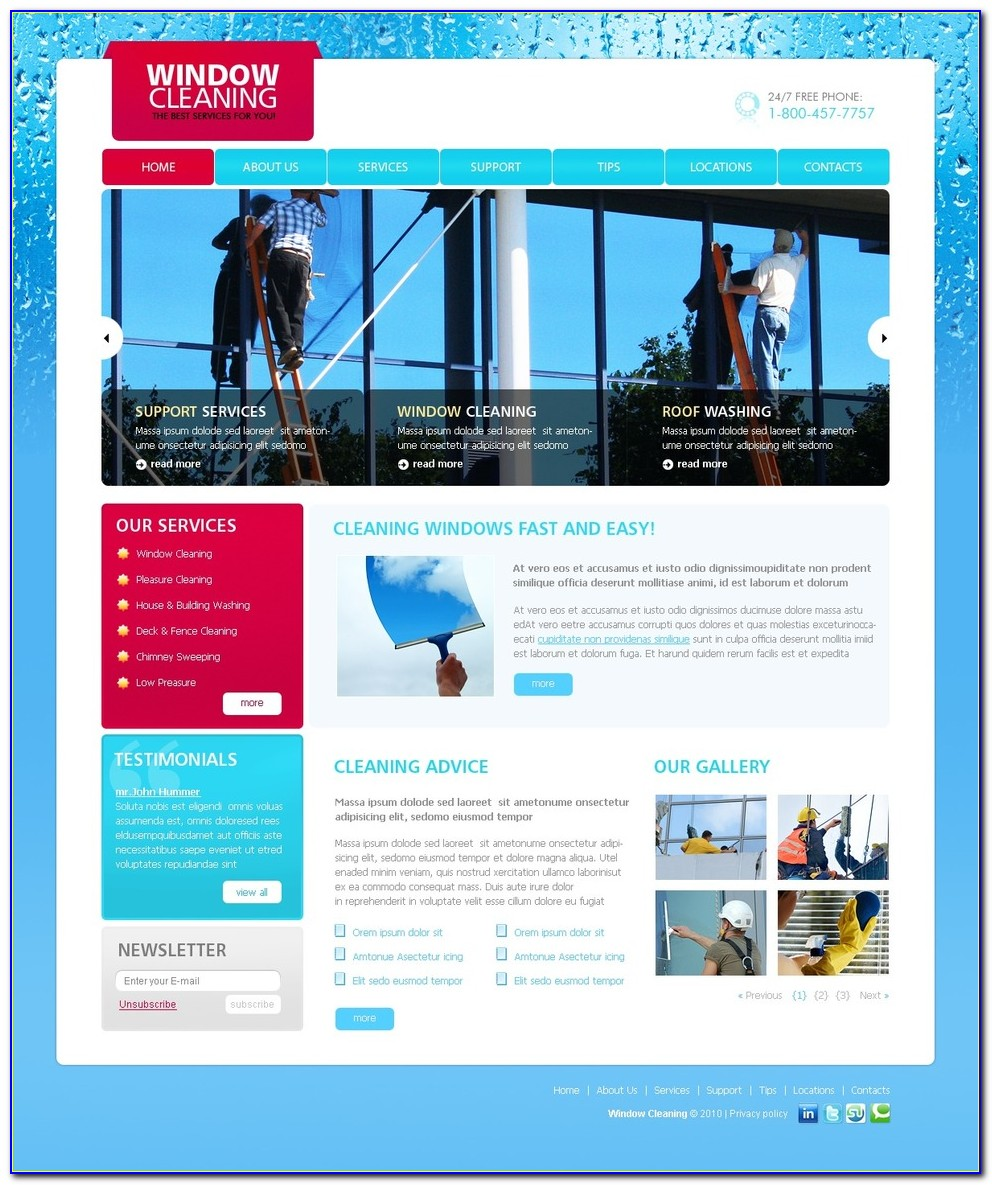 Free Window Cleaning Flyer Templates
