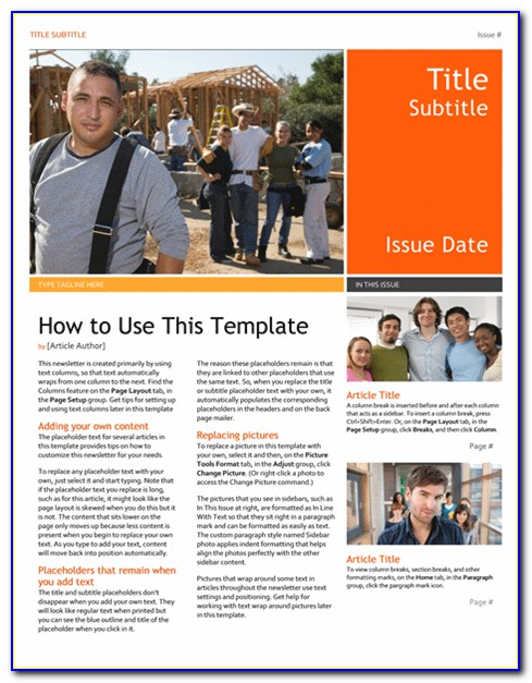Free Word Doc Newsletter Templates