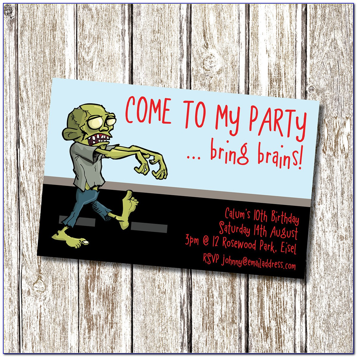 Free Zombie Party Invitation Template
