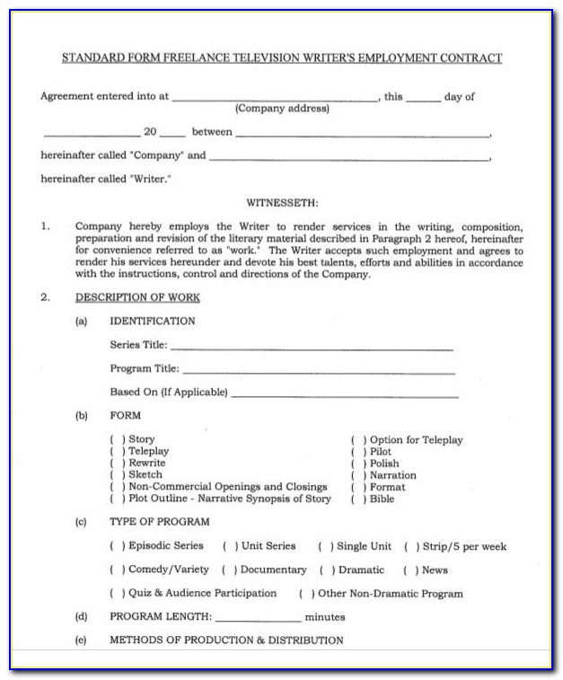 Freelance Contract Sample Letter Pdf