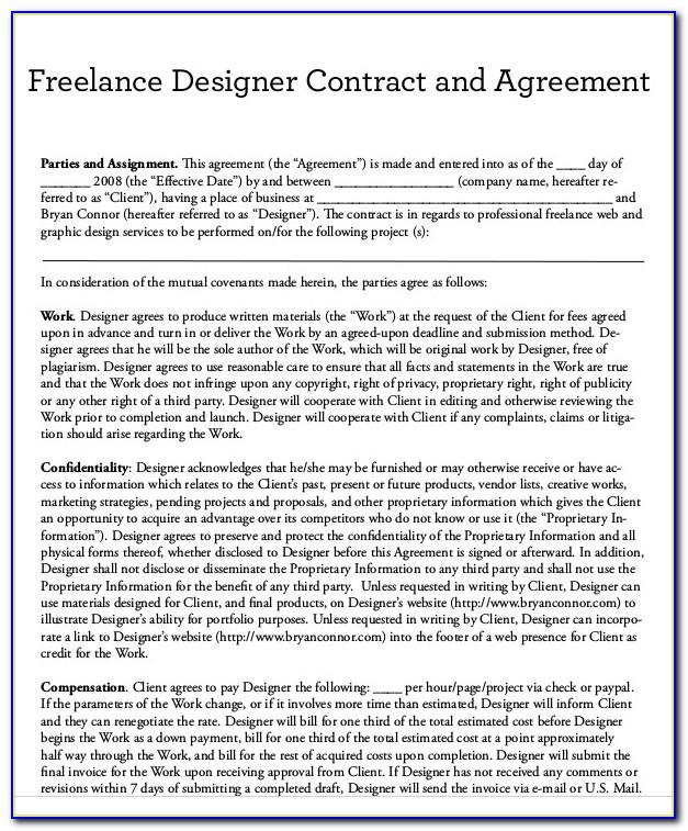 Freelance Dance Teacher Contract Template