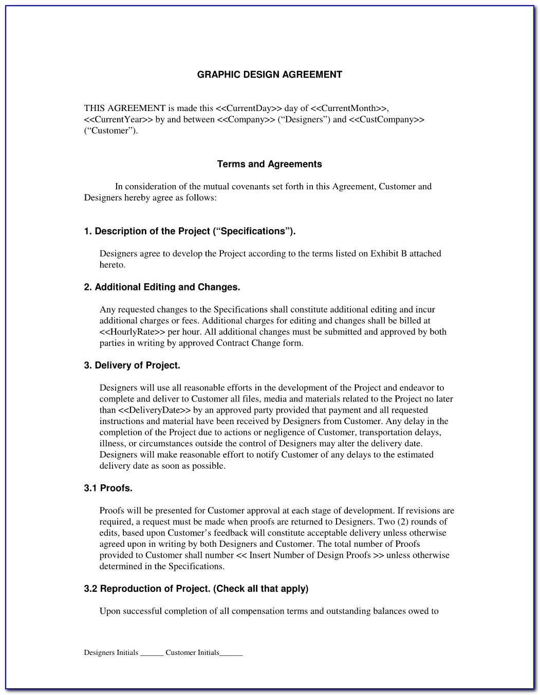 Freelance Graphic Designer Contract Sample