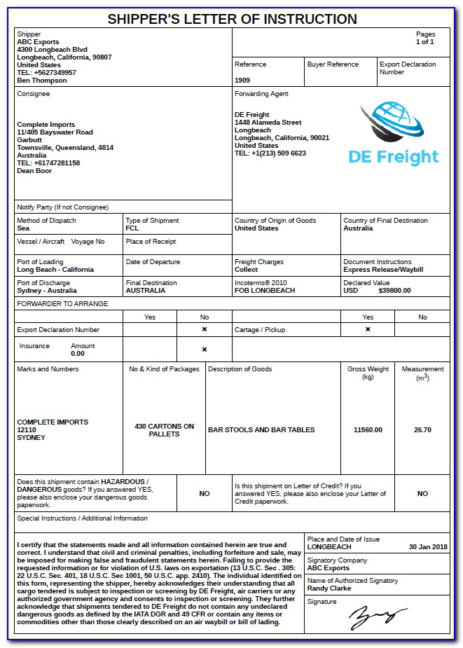 Freight Broker Invoice Template