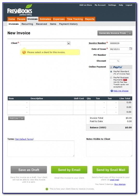 Freshbooks Custom Invoice Template