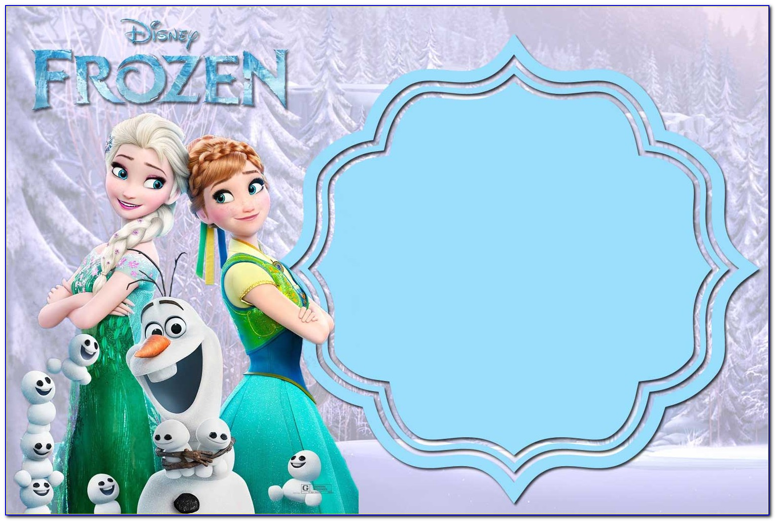Frozen Birthday Invitation Blank Template