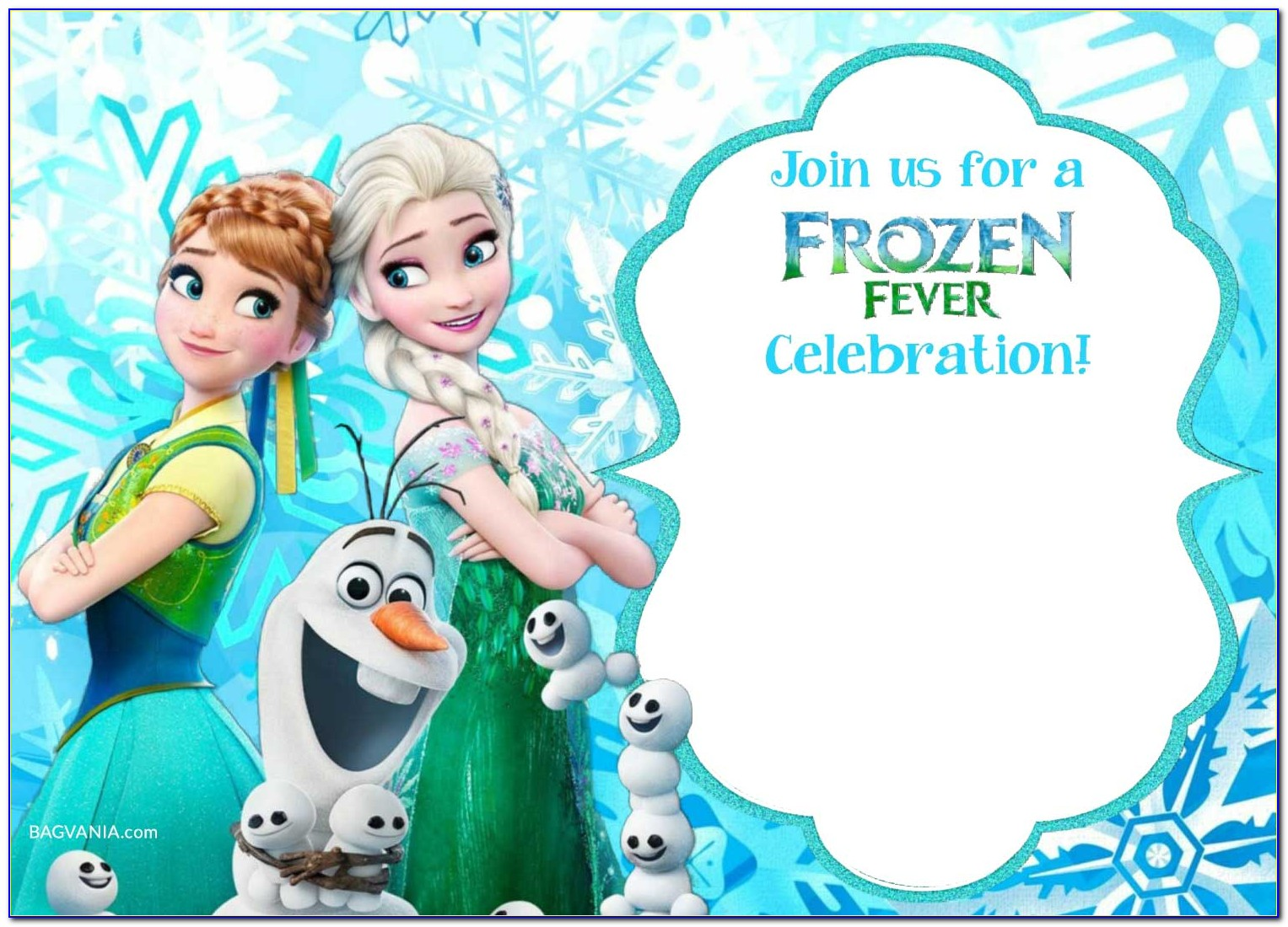 Frozen Castle Invitation Template