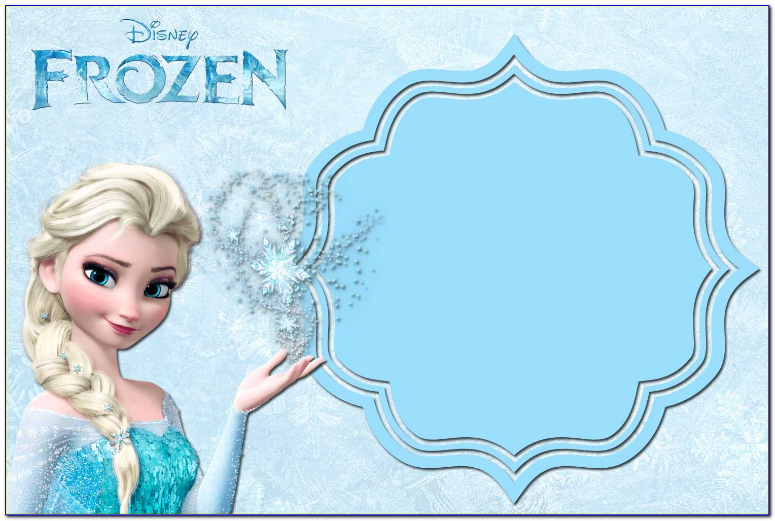 Frozen Dress Invitation Template