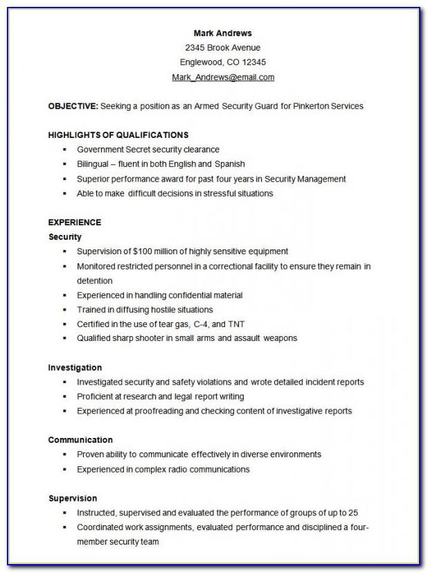Functional Resume Format Free