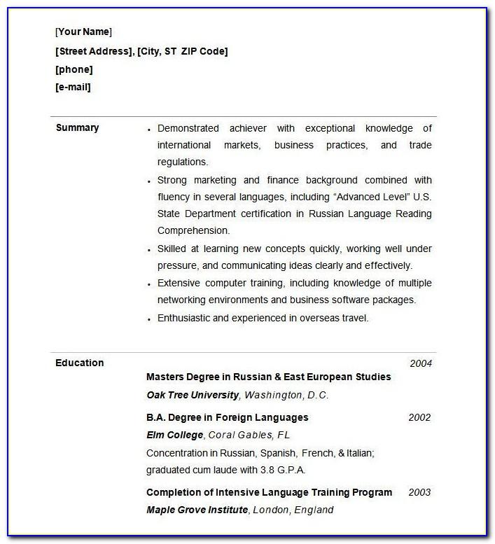 Functional Resume Sample Download