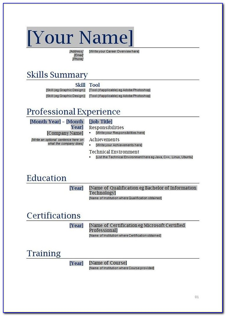Functional Resume Samples For Career Changers