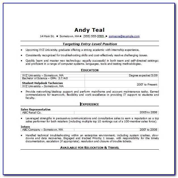 Functional Resume Template Free Word