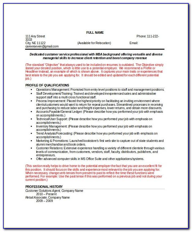 Functional Resume Template Word 2007