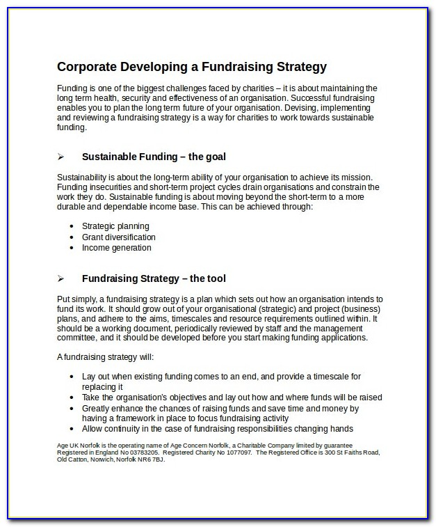 Fundraising Solicitation Letter Template
