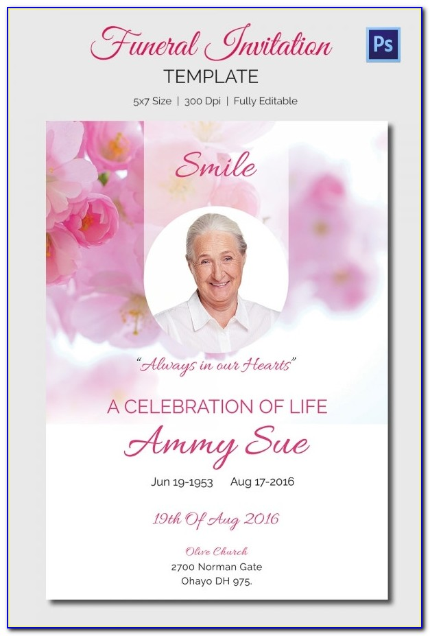 Funeral Announcement Templates Word