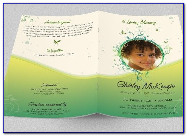 Funeral Announcements Template Free
