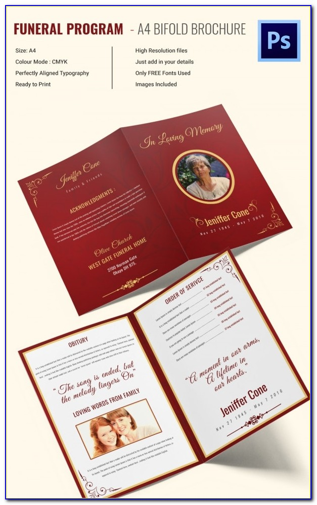 Funeral Bookmarks Templates Free Microsoft Word