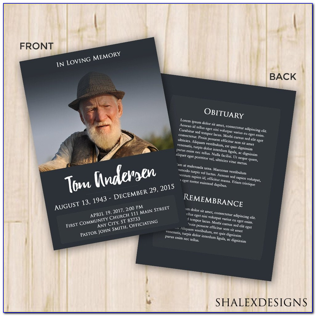 Funeral Brochure Template Indesign