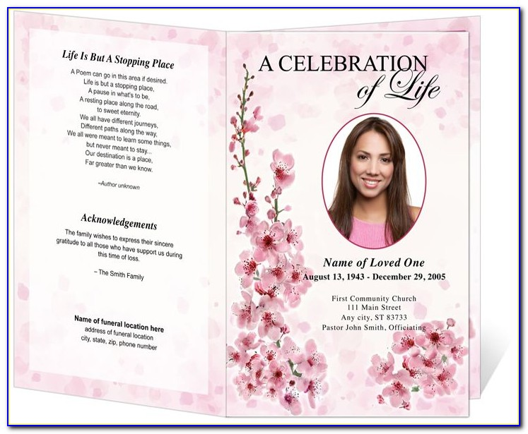 Funeral Brochure Template Word Free
