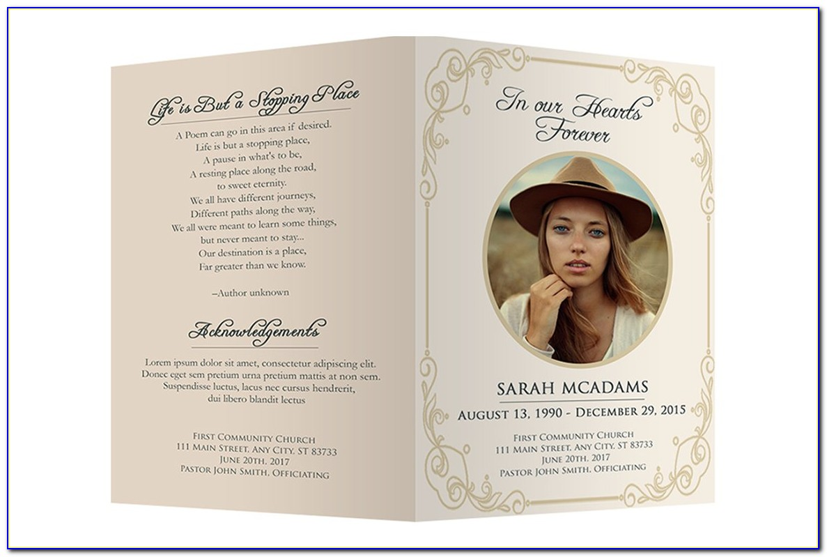 Funeral Brochure Templates Download