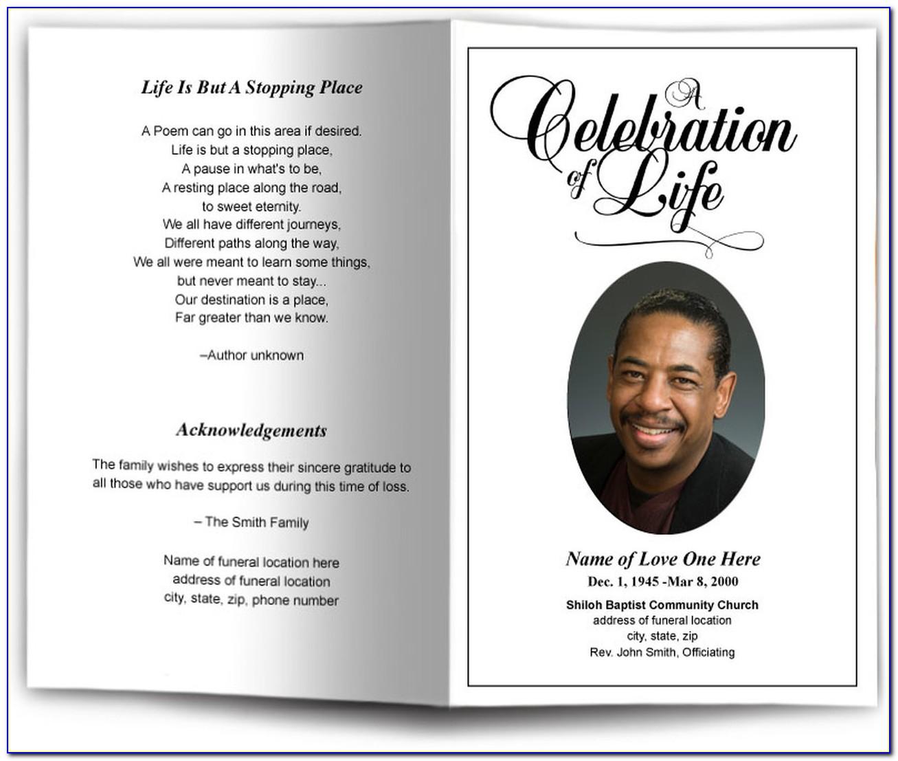 Funeral Bulletin Template Word